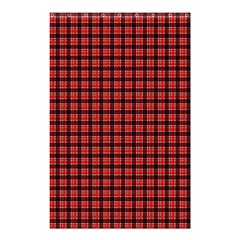 Red Plaid Shower Curtain 48  X 72  (small)