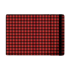 Red Plaid Apple Ipad Mini Flip Case by PhotoNOLA