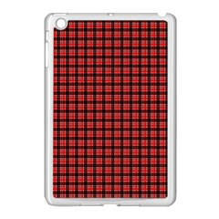 Red Plaid Apple Ipad Mini Case (white) by PhotoNOLA