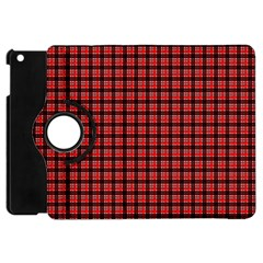 Red Plaid Apple Ipad Mini Flip 360 Case by PhotoNOLA