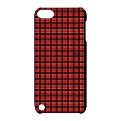 Red Plaid Apple Ipod Touch 5 Hardshell Case With Stand by PhotoNOLA