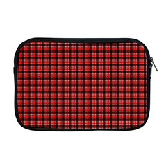 Red Plaid Apple Macbook Pro 17  Zipper Case