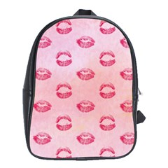 Watercolor Kisses Patterns School Bags (xl)  by TastefulDesigns