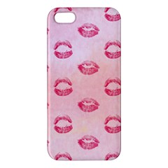 Watercolor Kisses Patterns Apple Iphone 5 Premium Hardshell Case by TastefulDesigns