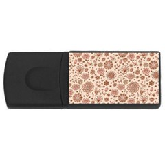Retro Sketchy Floral Patterns Usb Flash Drive Rectangular (4 Gb) by TastefulDesigns