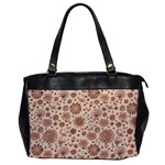 Retro Sketchy Floral Patterns Office Handbags Front
