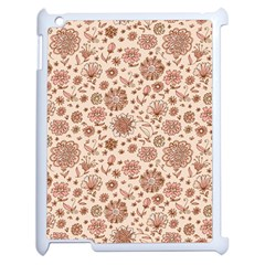 Retro Sketchy Floral Patterns Apple Ipad 2 Case (white) by TastefulDesigns