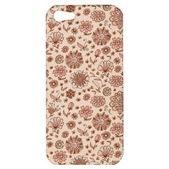 Retro Sketchy Floral Patterns Apple Iphone 5 Hardshell Case by TastefulDesigns