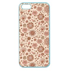 Retro Sketchy Floral Patterns Apple Seamless Iphone 5 Case (color) by TastefulDesigns