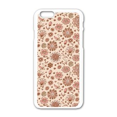 Retro Sketchy Floral Patterns Apple Iphone 6/6s White Enamel Case by TastefulDesigns