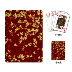 Background Design Leaves Pattern Playing Card by Simbadda