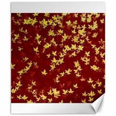 Background Design Leaves Pattern Canvas 8  X 10  by Simbadda