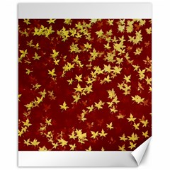 Background Design Leaves Pattern Canvas 16  X 20   by Simbadda