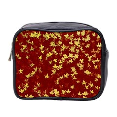 Background Design Leaves Pattern Mini Toiletries Bag 2 Side by Simbadda