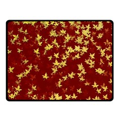 Background Design Leaves Pattern Fleece Blanket (small) by Simbadda