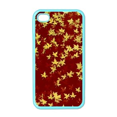 Background Design Leaves Pattern Apple Iphone 4 Case (color) by Simbadda