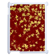 Background Design Leaves Pattern Apple Ipad 2 Case (white) by Simbadda