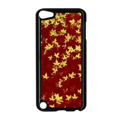 Background Design Leaves Pattern Apple Ipod Touch 5 Case (black) by Simbadda