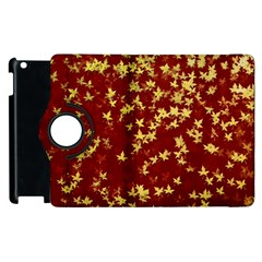 Background Design Leaves Pattern Apple Ipad 3/4 Flip 360 Case by Simbadda