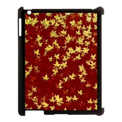 Background Design Leaves Pattern Apple Ipad 3/4 Case (black) by Simbadda