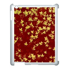 Background Design Leaves Pattern Apple Ipad 3/4 Case (white) by Simbadda