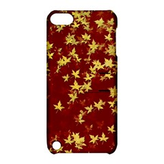Background Design Leaves Pattern Apple Ipod Touch 5 Hardshell Case With Stand by Simbadda