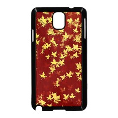 Background Design Leaves Pattern Samsung Galaxy Note 3 Neo Hardshell Case (black)
