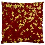 Background Design Leaves Pattern Large Flano Cushion Case (One Side) Front