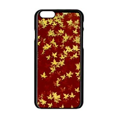 Background Design Leaves Pattern Apple Iphone 6/6s Black Enamel Case by Simbadda