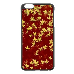 Background Design Leaves Pattern Apple Iphone 6 Plus/6s Plus Black Enamel Case by Simbadda