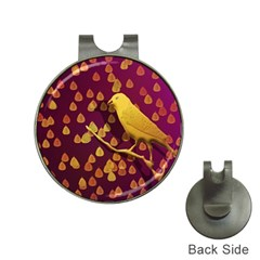 Bird Design Wall Golden Color Hat Clips With Golf Markers by Simbadda