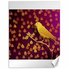 Bird Design Wall Golden Color Canvas 18  X 24   by Simbadda