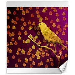 Bird Design Wall Golden Color Canvas 20  X 24   by Simbadda