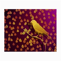 Bird Design Wall Golden Color Small Glasses Cloth (2 Side) by Simbadda
