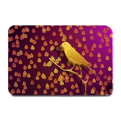 Bird Design Wall Golden Color Plate Mats by Simbadda