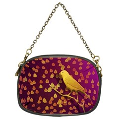 Bird Design Wall Golden Color Chain Purses (one Side)  by Simbadda