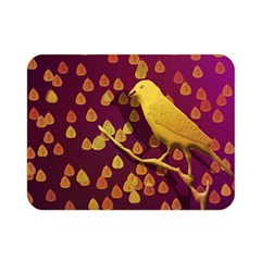 Bird Design Wall Golden Color Double Sided Flano Blanket (mini)  by Simbadda