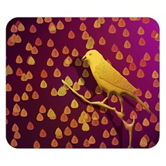 Bird Design Wall Golden Color Double Sided Flano Blanket (small)  by Simbadda