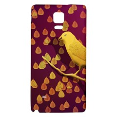 Bird Design Wall Golden Color Galaxy Note 4 Back Case by Simbadda