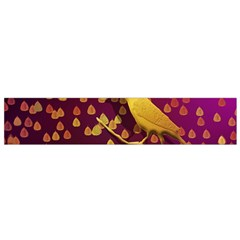 Bird Design Wall Golden Color Flano Scarf (small) by Simbadda