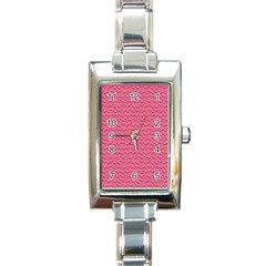 Background Letters Decoration Rectangle Italian Charm Watch by Simbadda