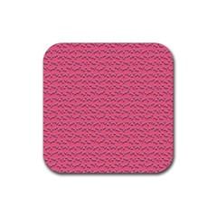 Background Letters Decoration Rubber Square Coaster (4 Pack)  by Simbadda