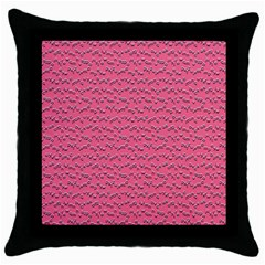 Background Letters Decoration Throw Pillow Case (black) by Simbadda