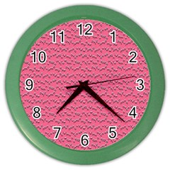 Background Letters Decoration Color Wall Clocks by Simbadda