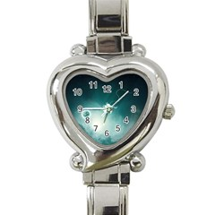 Astronaut Space Travel Gravity Heart Italian Charm Watch by Simbadda