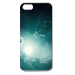 Astronaut Space Travel Gravity Apple Seamless Iphone 5 Case (clear) by Simbadda