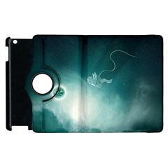 Astronaut Space Travel Gravity Apple Ipad 3/4 Flip 360 Case by Simbadda