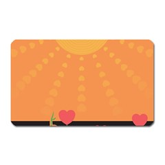 Love Heart Valentine Sun Flowers Magnet (rectangular) by Simbadda