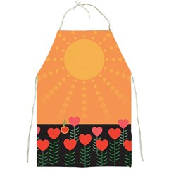 Love Heart Valentine Sun Flowers Full Print Aprons by Simbadda