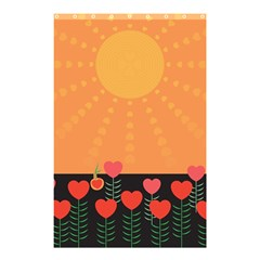 Love Heart Valentine Sun Flowers Shower Curtain 48  X 72  (small)  by Simbadda